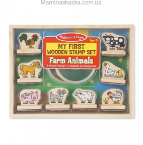 My First Wooden Stamp Set - Farm Animals (Мои первые штампы