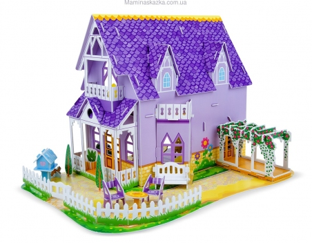 Pretty Purple Dollhouse 3D Puzzle (3D пазлы