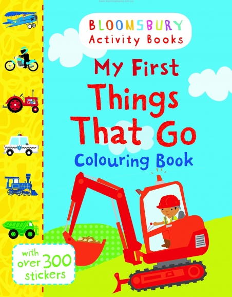 My First Things That Go Colouring Book