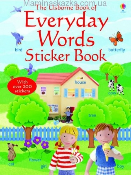 Everyday Words in English Sticker book