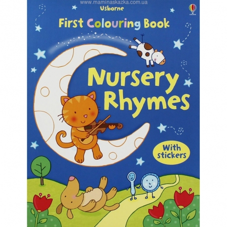 First Colouring Book with Stickers: Nursery Rhymes (First Colouring Books)
