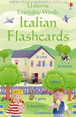 Everyday Words Flashcards: Italian