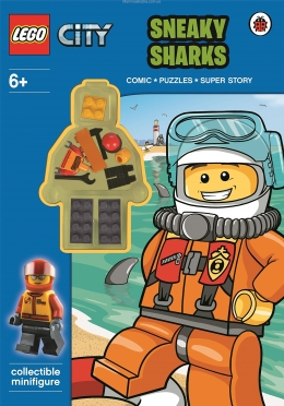 LEGO City: Sneaky Sharks Activity Book with Minifigure